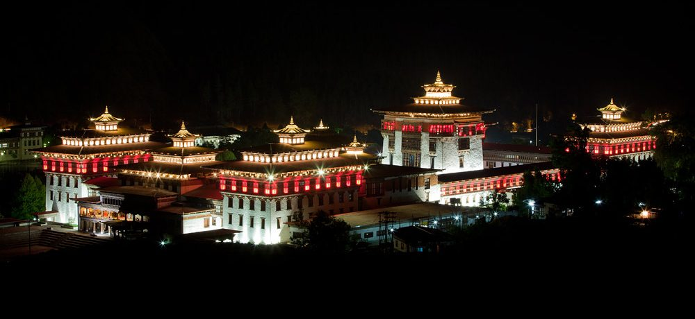 Tashichodzong Night View